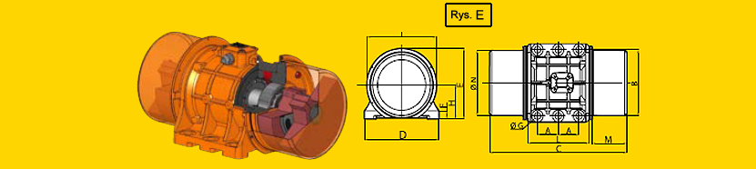 Elektrowibratory OLI-WAM seria MVE 1000 obr/min 3-faz