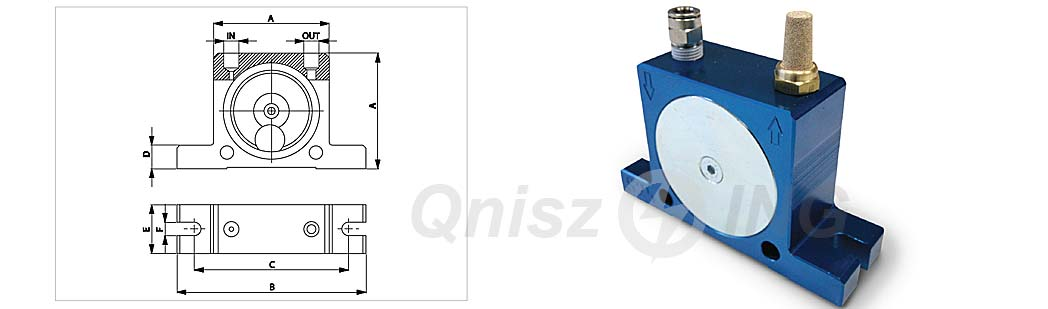 S - pneumatyczne wibratory typu kulowego