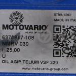 Przekładnie ślimakowe MOTOVARIO NMRV, NRV - tabliczka znamionowa