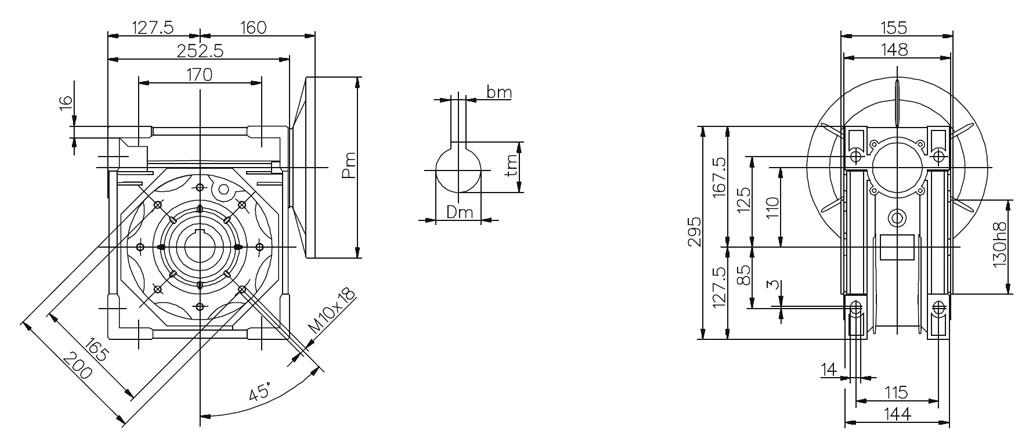 Przekładnie redukcyjne Motovario NMRV105